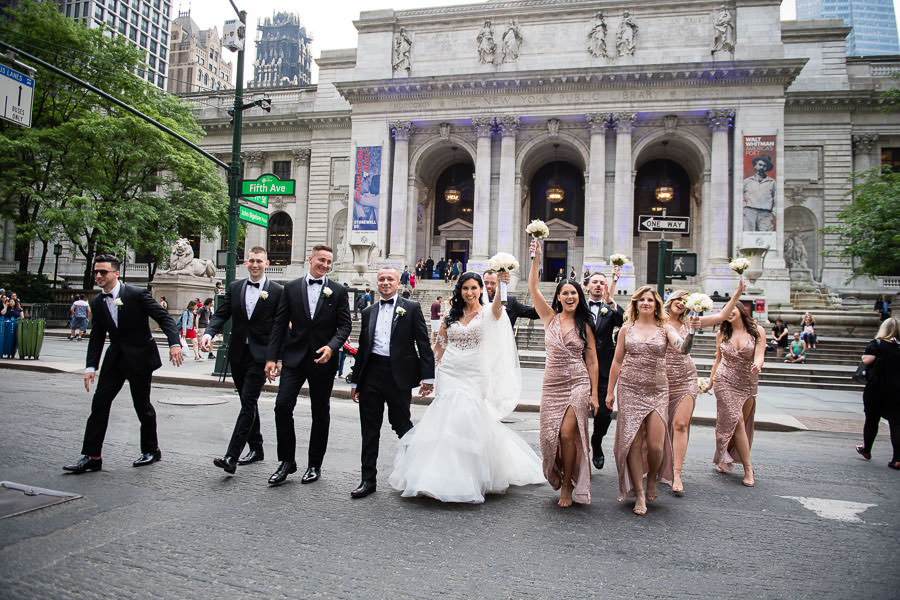New York Public Library Wedding Photography