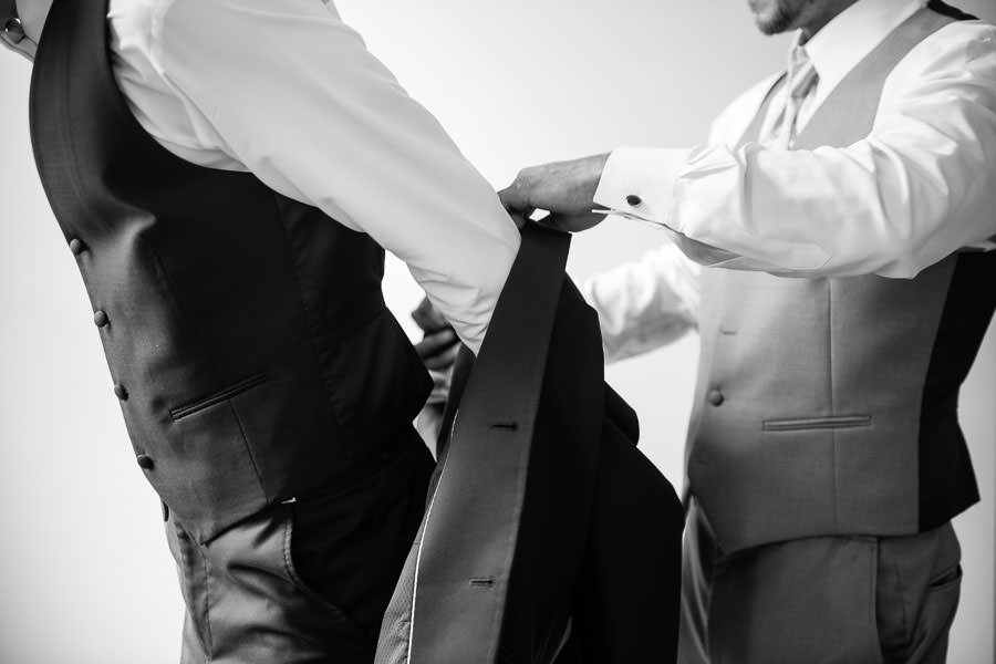 groom prep wedding photography in nyc