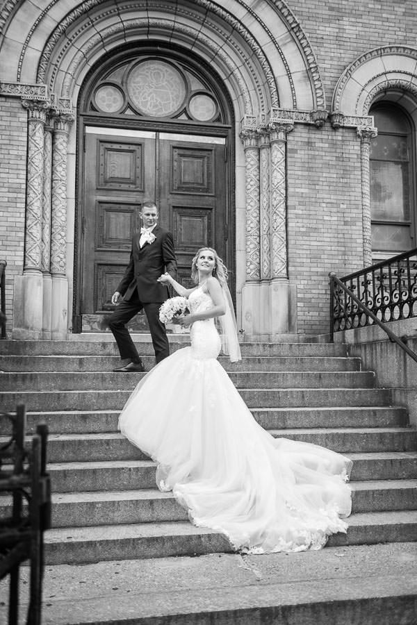 wedding couple church wedding in nyc
