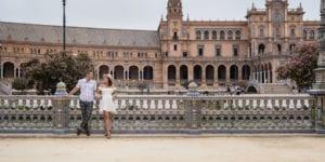 seville, spain engagement session at plaza de espana
