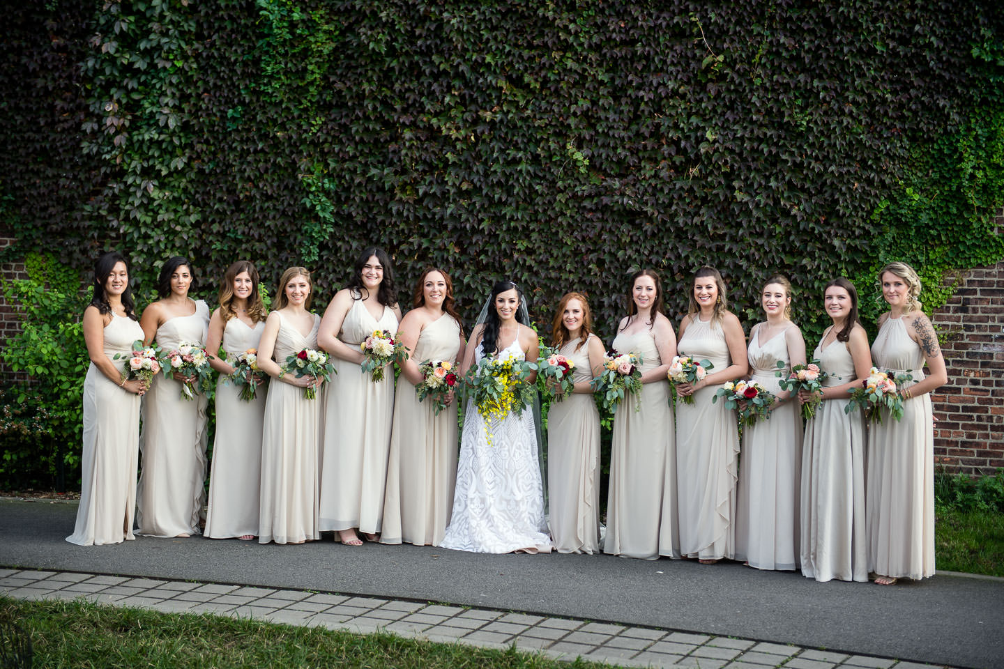 greenpoint loft wedding bridal party