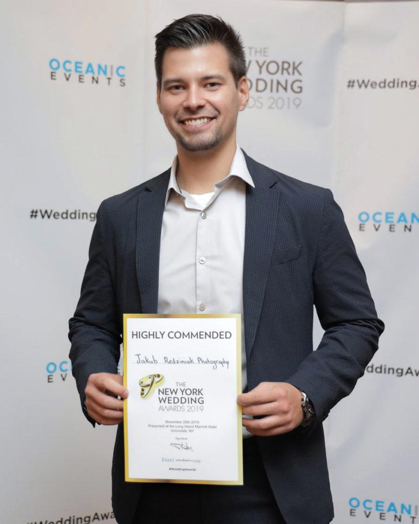 Best NYC Wedding Photographer by the New York Wedding Awards Jakub Redziniak