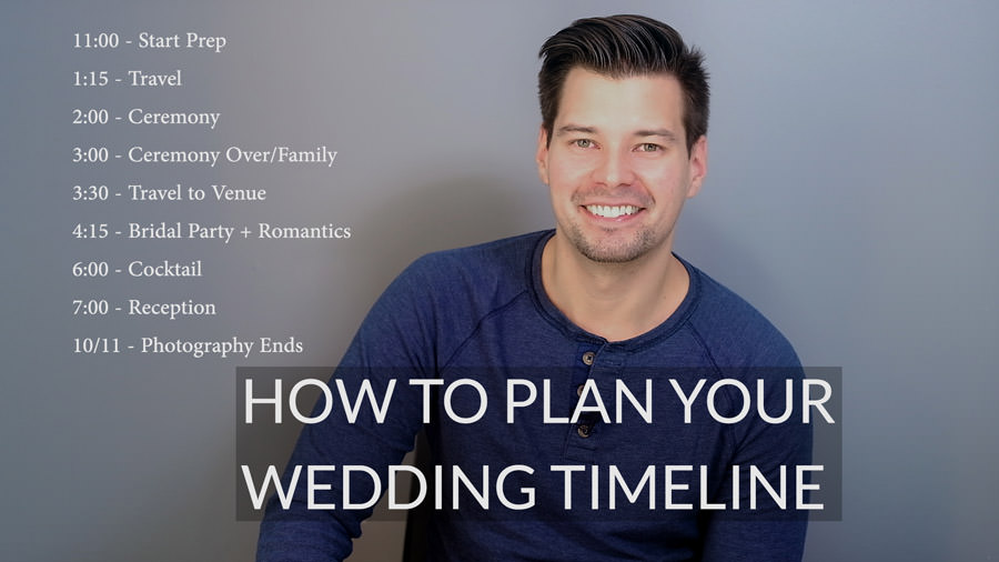 How to Plan a Wedding Photography Timeline