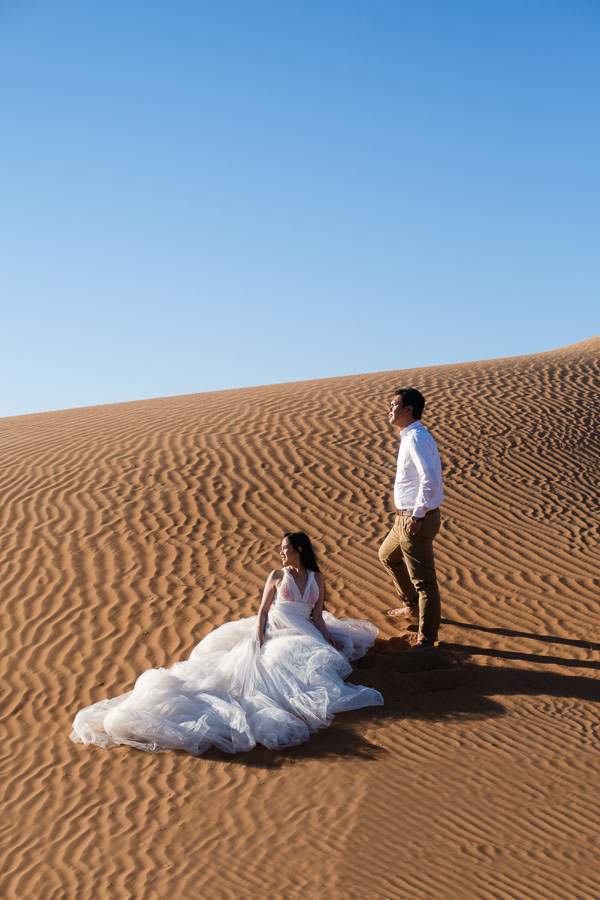 dubai desert wedding session