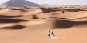 dubai desert wedding session