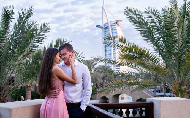 Dubai Madinat Engagement Session with Yulia & Christian