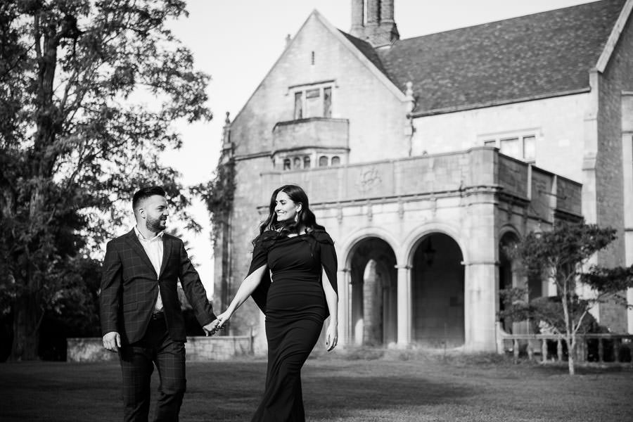 Planting Fields Arboretum Engagement Session formal and elegant style